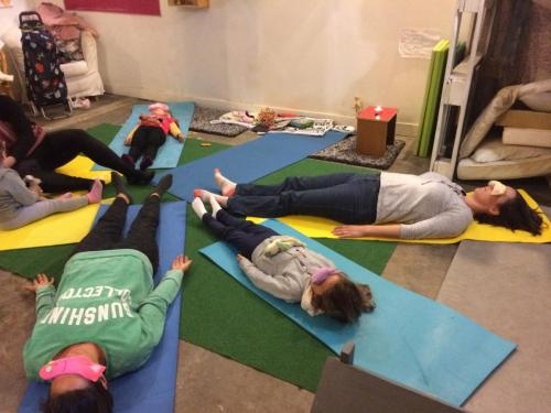 Savasana wih eye bags